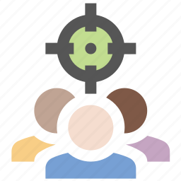 business, finance, marketing, seo, target audience icon