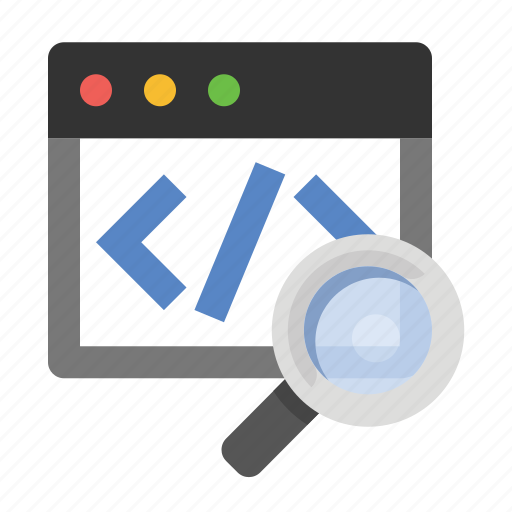 business, code search, finance, marketing, seo, source code, view source icon