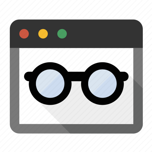 business, finance, marketing, page reader, page view, seo, spectacles icon