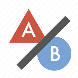 a-b testing, ab testing, business, finance, marketing, seo icon