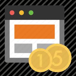 business, finance, marketing, page monetization, seo icon