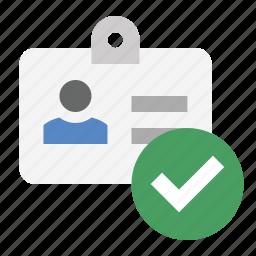 business, finance, id badge, marketing, seo, verified identity, verified user icon