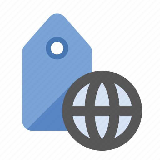 business, finance, geo tagging, global tagging, marketing, seo, tag icon