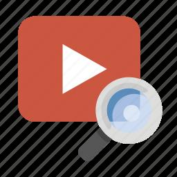 business, finance, marketing, seo, video search icon