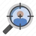 business, finance, marketing, search target, seo, target user icon