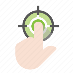 business, click target, finance, marketing, seo icon