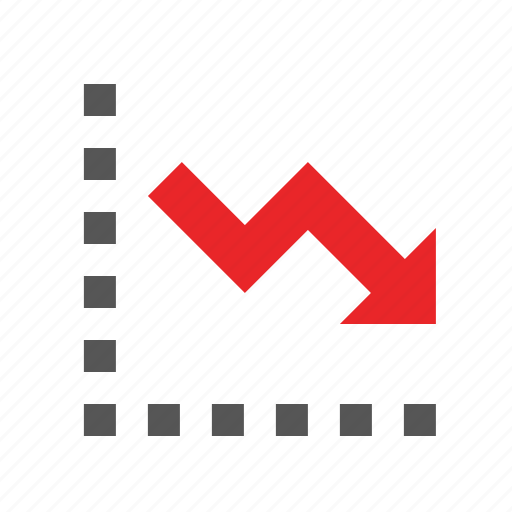 business, chart, decline, finance, marketing, seo, trend icon
