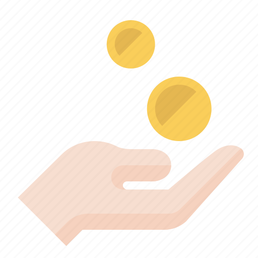 business, charity, coin, donation, finance, marketing, payment icon
