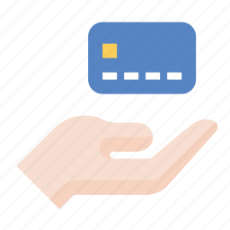 business, credit card, finance, hand, marketing, payment, seo icon