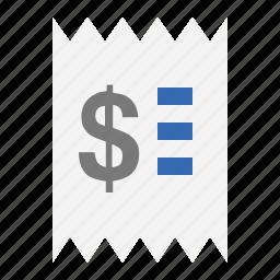 business, finance, marketing, purchase, receipt, seo icon