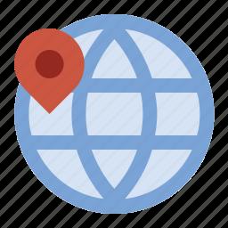 business, finance, geolocation, globe, marketing, seo icon