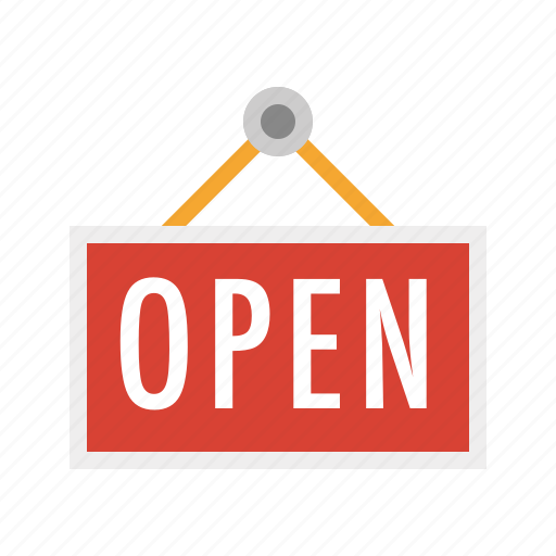 business, finance, marketing, open, open sign, seo, sign icon