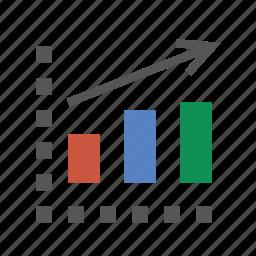 analytics, bar chart, business, finance, marketing, seo icon