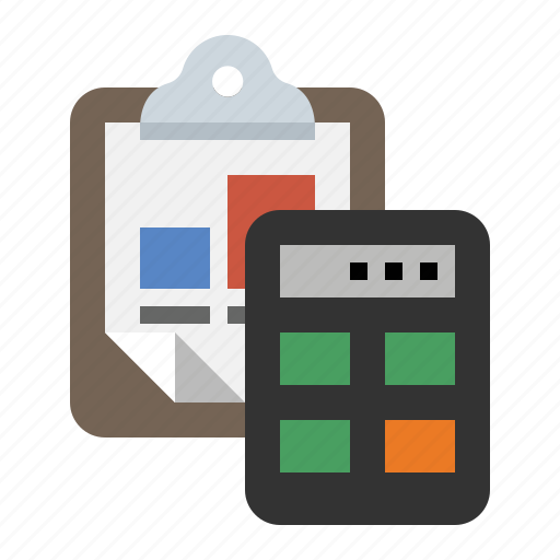 accounting, analytics, business, calculator, clipboard, finance, marketing icon