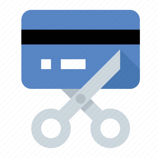 business, credit card, debt free, finance, marketing, scissors, seo icon