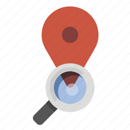 business, finance, location search, marketing, seo icon