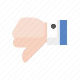 dislike, downvote, gesture, hand, thumbs down icon