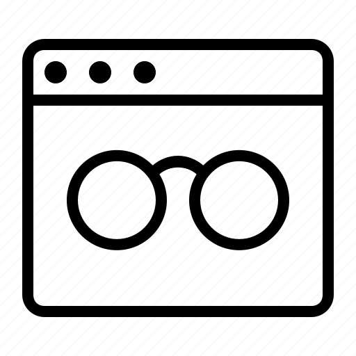 business, finance, glasses, marketing, page reader, seo, spectacles icon