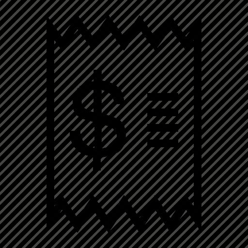 business, finance, marketing, receipt icon