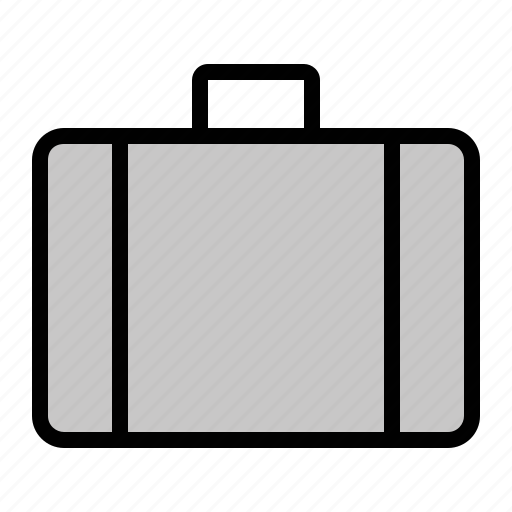 attaché, brief case, business, luggage icon