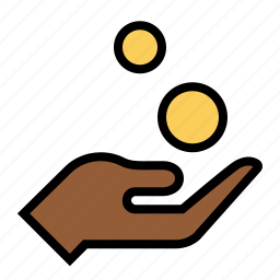 charity, donation, hand, pay, payment icon