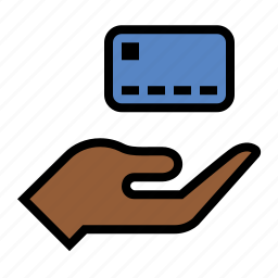credit card, hand, pay, payment icon
