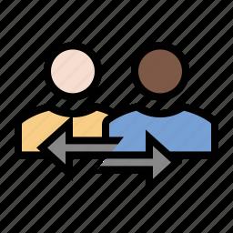 business, finance, marketing, seo, sharing, user exchange icon