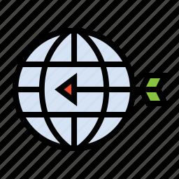 business, finance, geo target, global target, marketing, seo icon