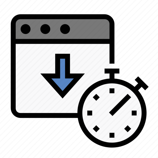 business, download speed, finance, marketing, page speed, seo, stopwatch icon