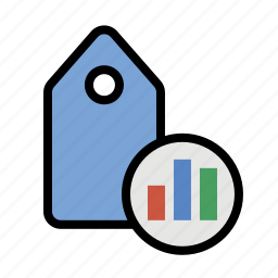 analytics, business, chart, finance, marketing, seo, tagging analytics icon