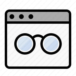 business, glasses, marketing, page view, read, seo, spectacles icon