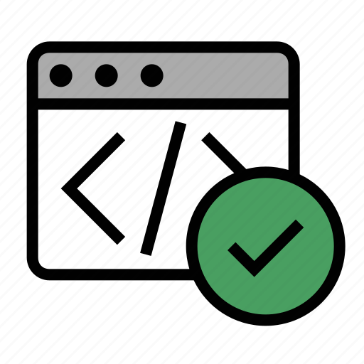 business, code validation, finance, marketing, seo, validation icon