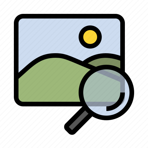 business, finance, image search, marketing, search, seo icon