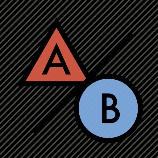 a-b testing, ab testing, business, finance, marketing, seo, testing icon