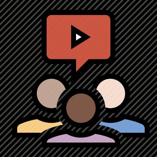 business, finance, marketing, seo, viral video icon