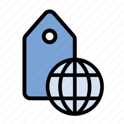 business, finance, geo tagging, global tagging, globe, marketing, seo icon