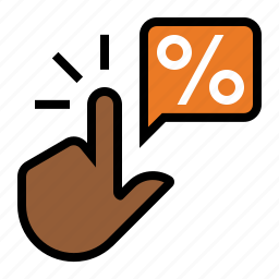business, click, click thru rate, finger, hand, marketing, seo icon