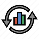 analytics, business, finance, marketing, seo icon