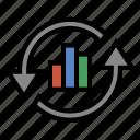 analytics, business, finance, marketing, seo icon