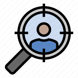 business, finance, marketing, search, seo, target search, target user icon