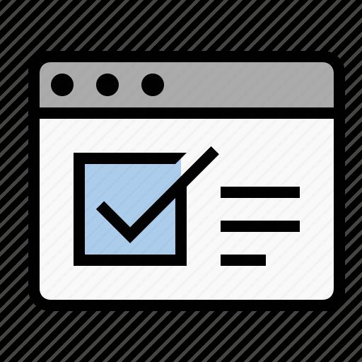 business, finance, marketing, seo, web form, web survey icon