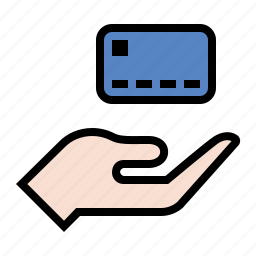 business, credit card, finance, hand, marketing, payment icon