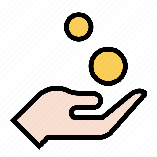 business, coin, donation, finance, hand, marketing, payment icon