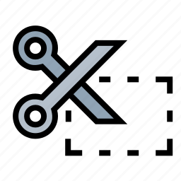 business, coupon, finance, marketing, price cut, scissors icon