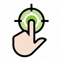 business, click, click target, finance, finger, marketing, seo icon