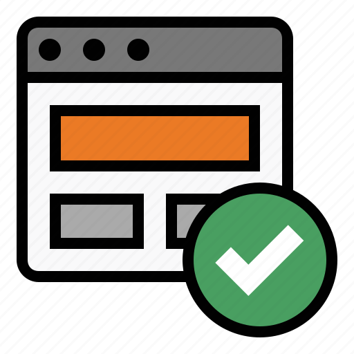business, finance, marketing, page validation icon