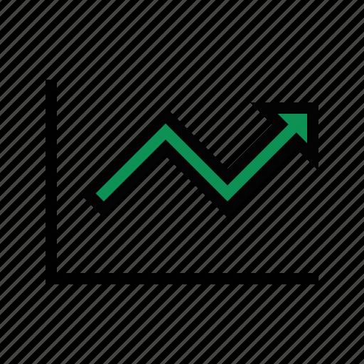 analytics, business, finance, marketing, trend icon