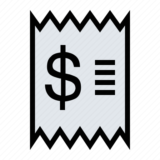 business, finance, marketing, purchase, receipt icon