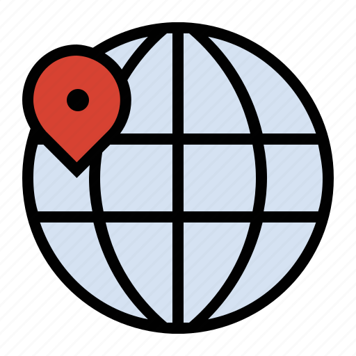 business, finance, geo location, globe, marketing, seo icon
