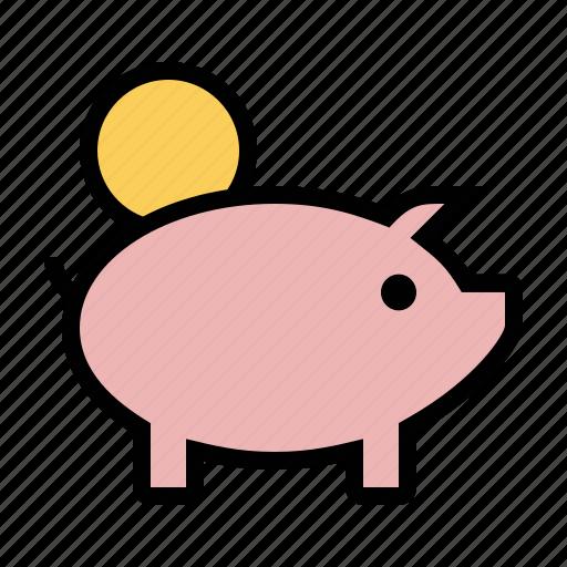 business, finance, marketing, piggy bank, savings icon